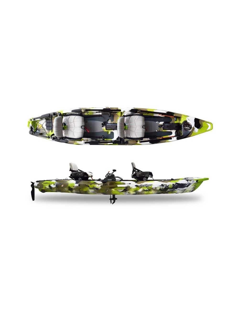 Kayak Lure 2 tandem Overdrive de Feelfree Lime Camo