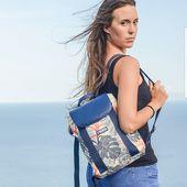 Backpack tropical 🌺 #backpack #wetbag #sacados #cartable #étanche #sacetanche